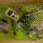 Komplettes Diorama aus der Vogelperspektive